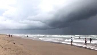 Efectos huracan Harvey Isla Padre Texas
