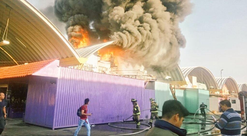 Incendio en la Central de Abasto en la CDMX