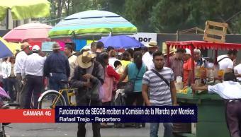 Ingresa comisión de la Marcha por Morelos a Segob
