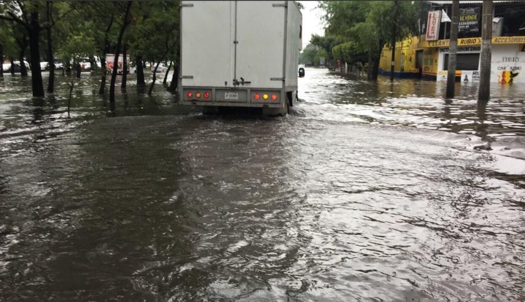 Afectaciones por lluvia e inundación en Jaliasco