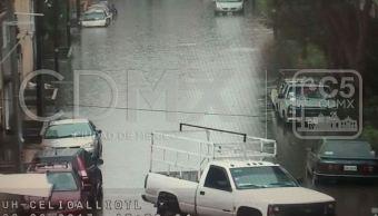 Lluvias provocan inundaciones y encharcamientos en la CDMX
