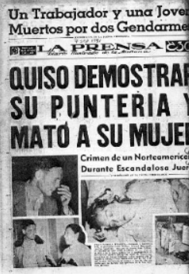 Joan Vollmer, William Burroughs, La Prensa, titular, periódico