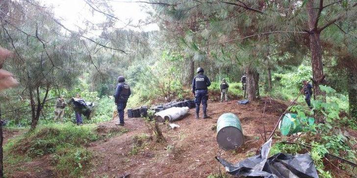 Ejército Mexicano desmantela laboratorio clandestino en Michoacán
