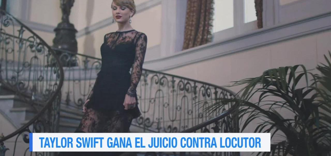 Taylor Swift, gana, juicio, locutor