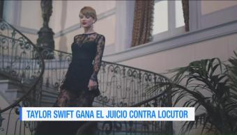Taylor Swift, gana, juicio, locutor
