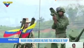 Maduro Ordena Ejercicios Militares Venezuela Presidente Nicolas Maduro