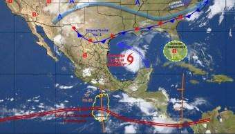 mapa con el clima para este 24 de agosto