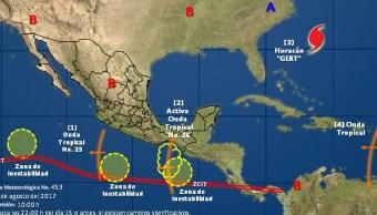 Alerta Colima y Jalisco por fenómenos ciclónicos en el Pacífico