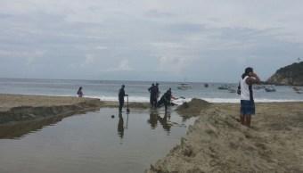 alerta por mar de fondo en costas de Oaxaca