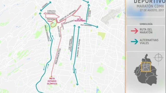 SSP alista operativo por el Maratón de la Ciudad de México
