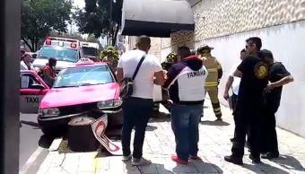 Muere taxista presuntamente por paro cardiaco en la colonia Doctores