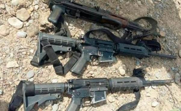 armas aseguradas tras enfrentamiento