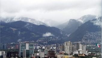 Nubosidad sobre la CDMX; prevén lluvias fuertes