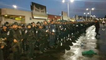 Despliegan 600 policías para operativo de seguridad en la Central de Abasto
