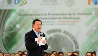 Asegura Osorio Chong que en Durango no ha habido ningún secuestro