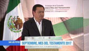 Osorio Chong, inicio, Mes, Testamento