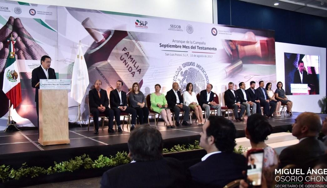 Inaugura Osorio Chong campaña Septiembre, mes del testamento