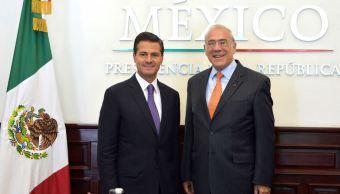 Peña Nieto se reúne con secretario general de la OCDE