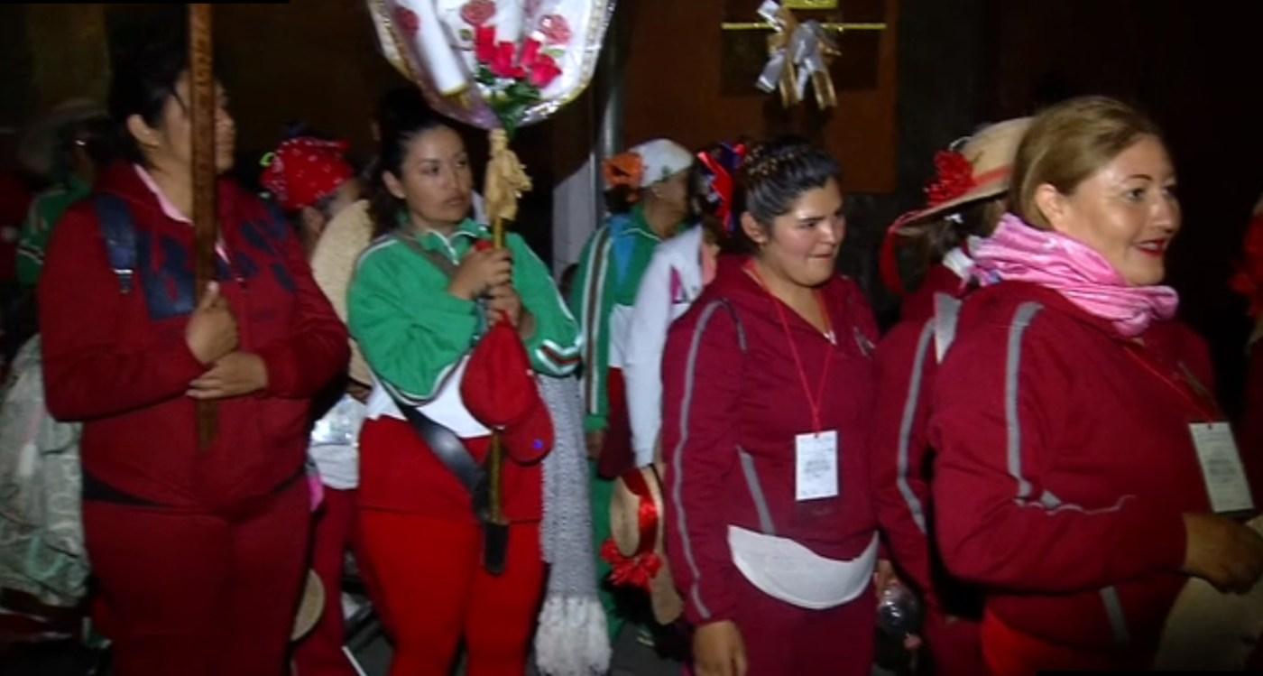 Miles de mujeres llegan a la basilica de guadalupe