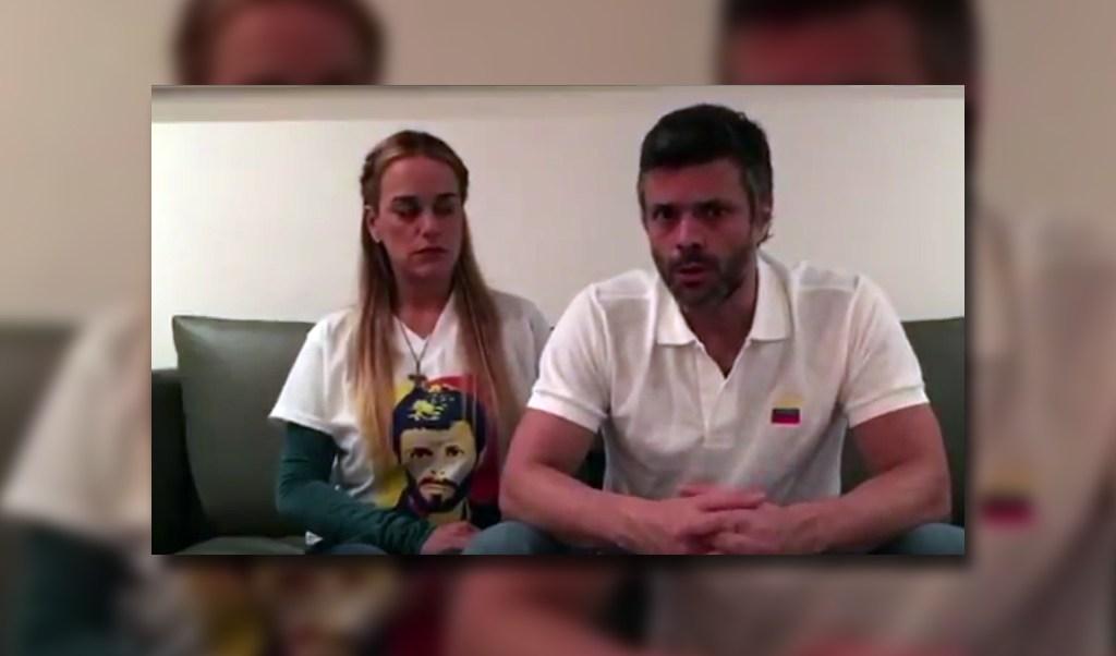 Lilian Tintori y Leopoldo López en Venezuela