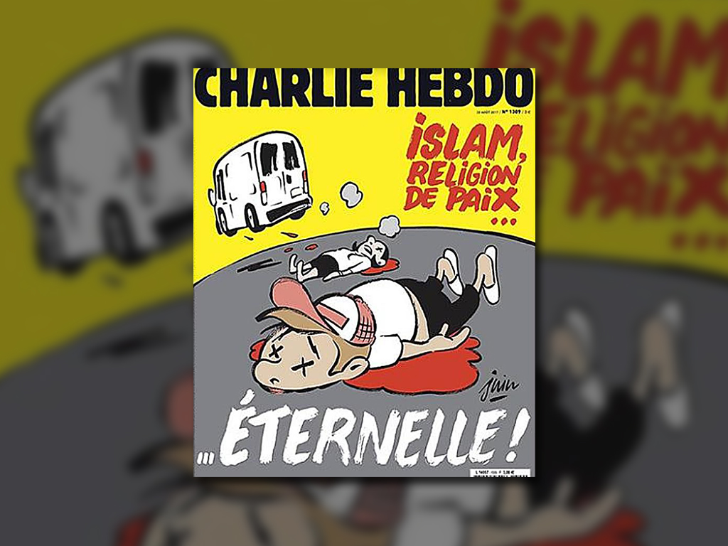 Critican portada de 'Charlie Hebdo' sobre ataque en Barcelona