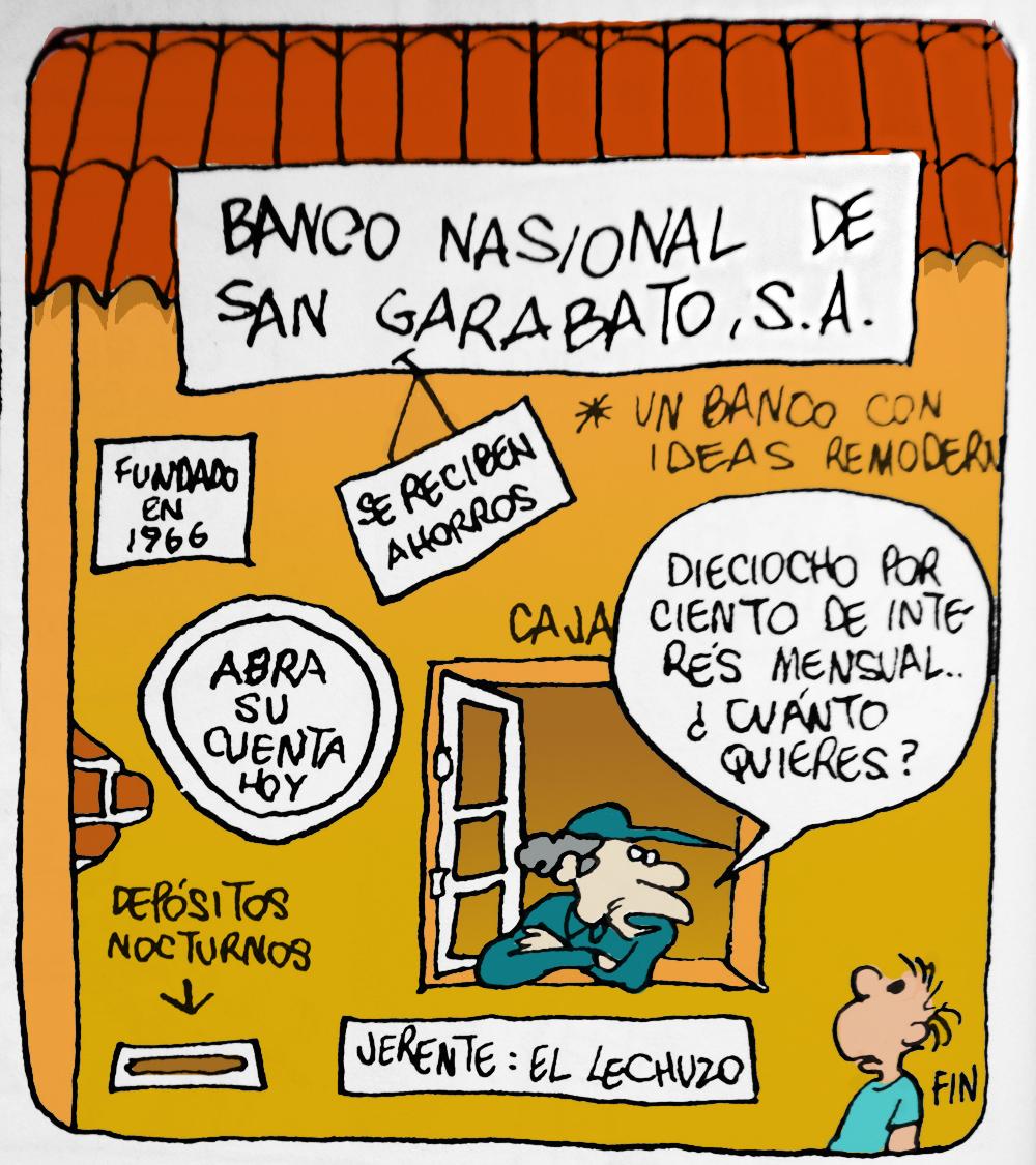 Postal de 'Rius' sobre economía y ahorro en bancos