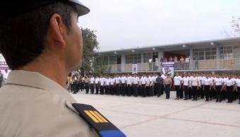 Plantel de preparatoria militarizada en Nuevo León