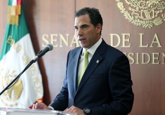 El presidente de la Mesa Directiva del Senado, Pablo Escudero
