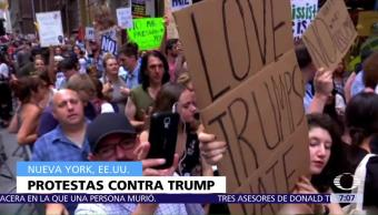 Protestan Contra Donald Trump Nueva York