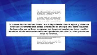 Rechaza Emilio Lozoya Acusaciones Caso Odebrecht