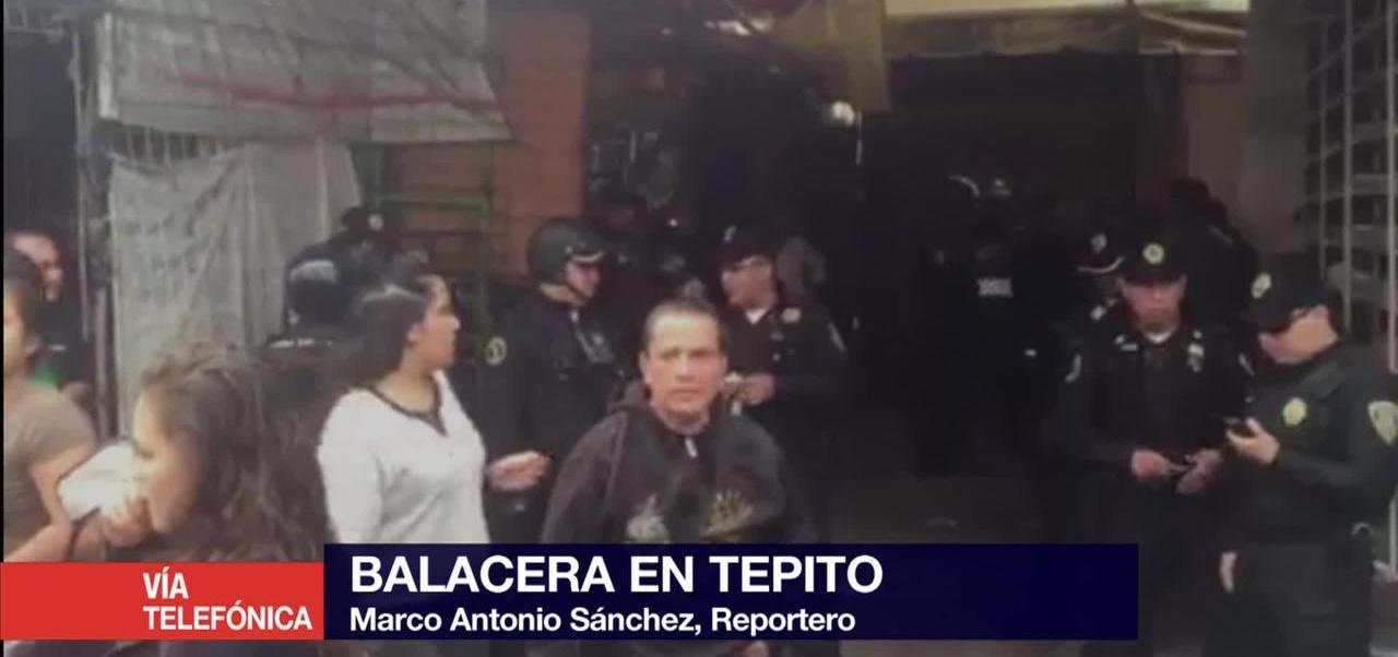 Se registra balacera en la zona de Tepito en la CDMX