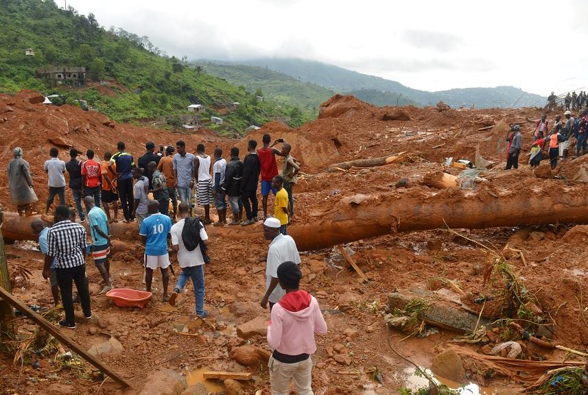 Cruz Roja calcula 600 desaparecidos por aludes en Sierra Leona