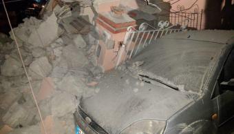 Sismo deja heridos y derrumbes isla Ischia