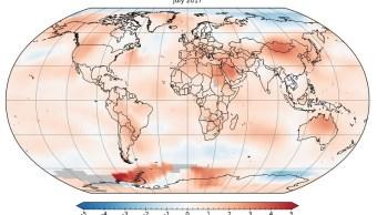 el mes de julio de 2017 fue el mes mas caluroso