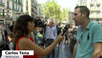 Fue una imagen de terror, dice testigo de atentado en Barcelona
