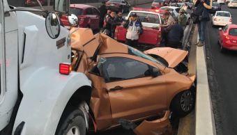 tráiler choca contra cinco vehiculos en periferico norte