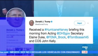 Trump monitorea avance del huracán Harvey