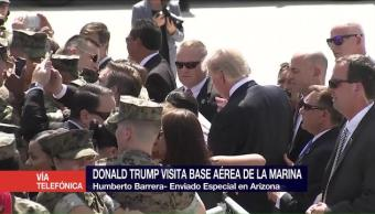 Trump Reune Marinos Arizona Presidente Estados Unidos Donald Trump