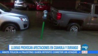 Viviendas de Coahuila con afectaciones por intensas lluvias