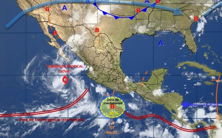 Persistirá clima lluvioso en la mayor parte de la República Mexicana