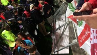 colapsa barrera estadio futbol francia heridos