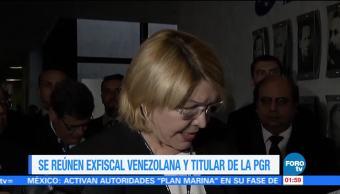 Exfiscal Venezuela Visita Mexico Luisa Ortega Procuraduria General De La Republica Raul Cervantes