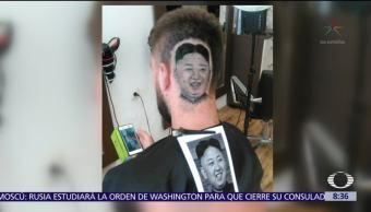 Barbero Sirio Plasma Rostro Líder Norcoreano Corte Cabello