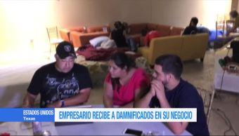 Mueblería de Texas se convierte en albergue para damnificados