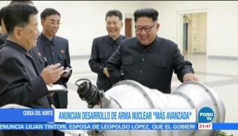 Corea del Norte desarrolla bomba de hidrógeno para misil