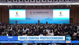 Inicia, cumbre, BRICS, proteccionismo
