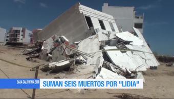 BCS suma seis muertos tras el impacto de la tormenta 'Lidia'