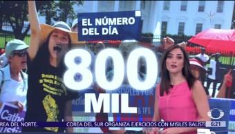 El, número, día, 800