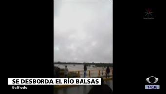 Desfogue Presa Causa Desbordamiento Río Balsas Guerrero Caracol