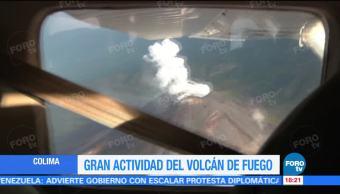 Gran Actividad Volcán Fuego Colima Observatorio Vulcanológico